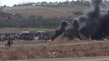 Manifestação junto à vedação de Gaza, 26 de Outubro de 2018. Crédito: Eliyahu Hershkovitz