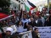 Manifestação de familiares de presos palestinos nas cadeias de Israel